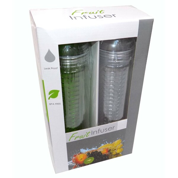 27 oz. Plastic Water Bottle (Set of 2) by Tectron