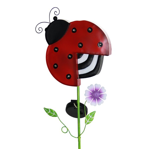 Solar Ladybug Marquee Garden Stake by Exhart