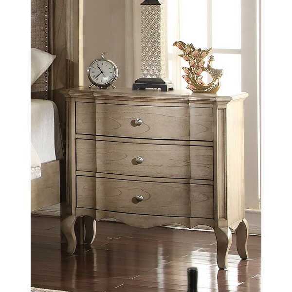 Aubree 3 Drawer Nightstand by One Allium Way