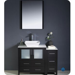 Affordable Torino 42 Single Bathroom Vanity Set with Mirror By Fresca