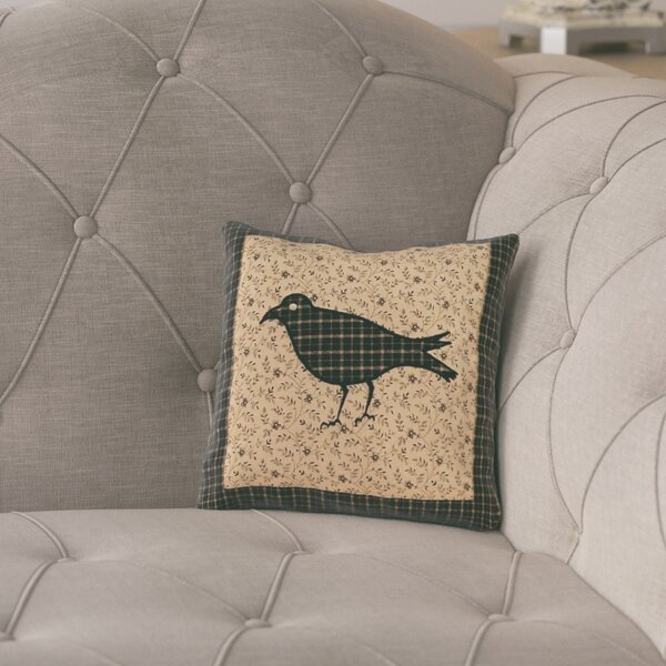Millicent Crow Cotton Throw Pillow by August Grove