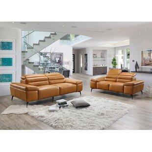 Kean Leather Configurable Living Room Set  by Orren Ellis