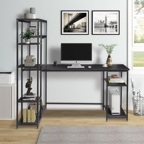 Illiopolis L Shape Computer Desk with Hutch