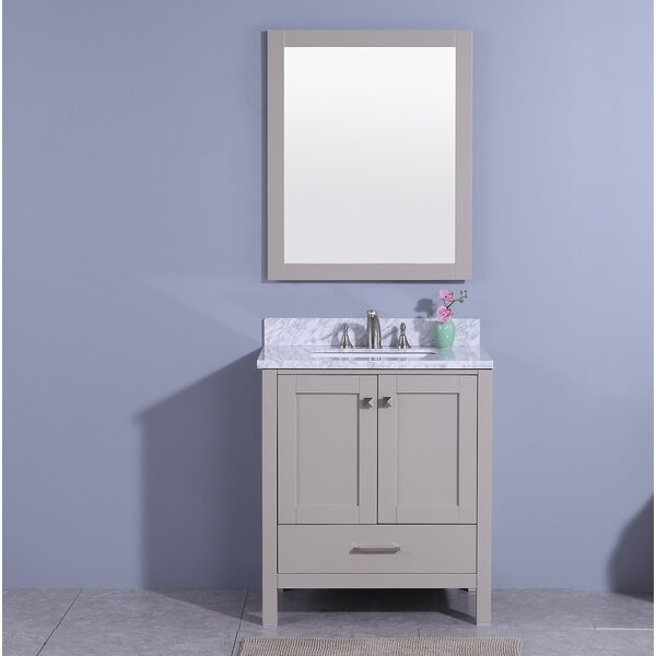 Meyers 31 Single Bathroom Vanity Set with Mirror by Andover Mills