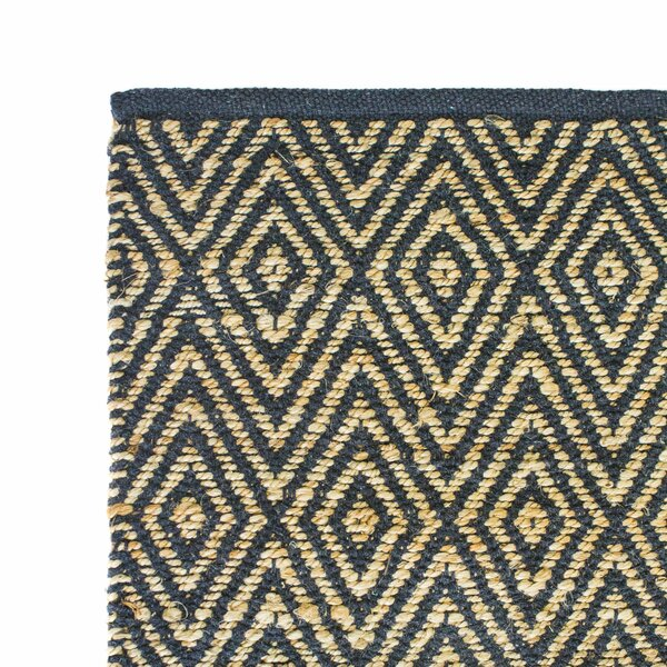 Hand-Woven Dark Gray Area Rug by Cozy Home and Bath