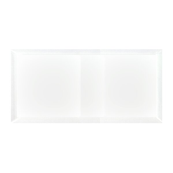 Frosted Elegance 8 x 16 Glass Field Tile in Matte White by Abolos