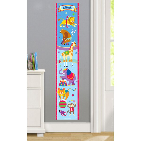 Big Top Personalized Peel and Stick Growth Chart by Olive Kids