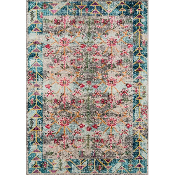 Laws Blue/Pink Area Rug by World Menagerie
