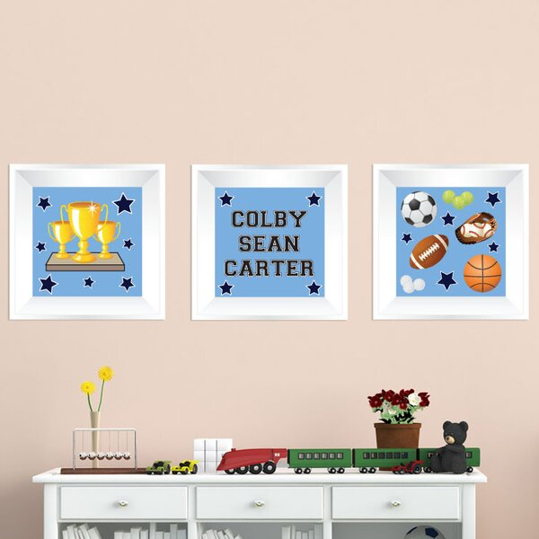 3 Piece Sports Picture Frame Wall Decal by Mona Melisa Designs