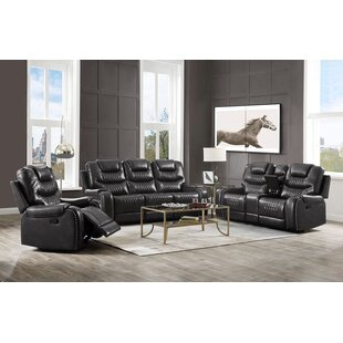 Glendaly 3 Piece Faux Leather Reclining Living Room Set by Ebern Designs