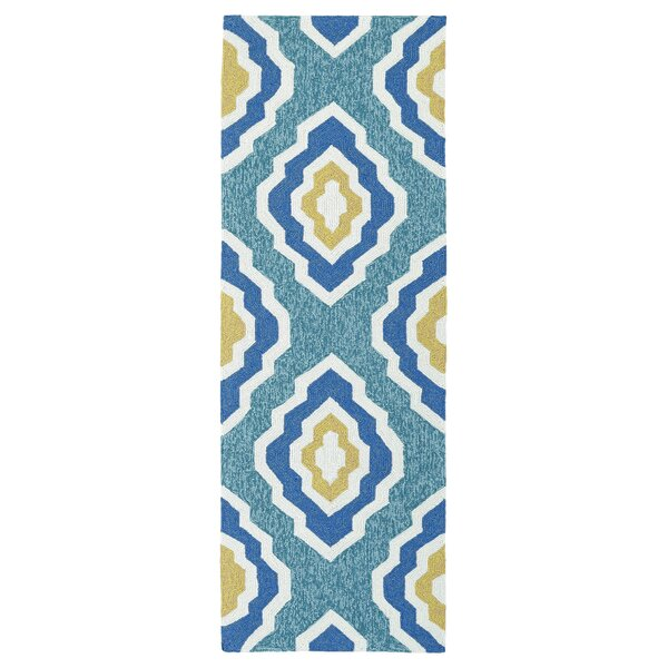 Escape Hand-Tufted Blue Indoor/Outdoor Area Rug by Kaleen