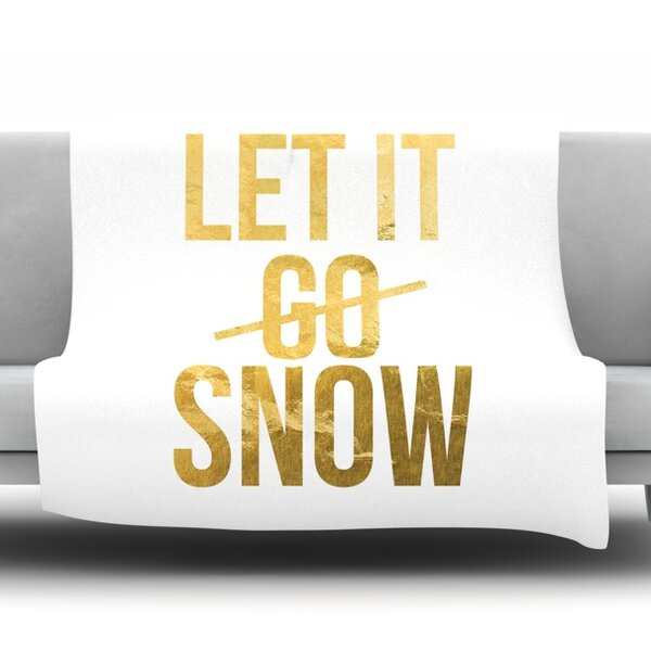 Let it Snow Fleece Blanket by East Urban Home