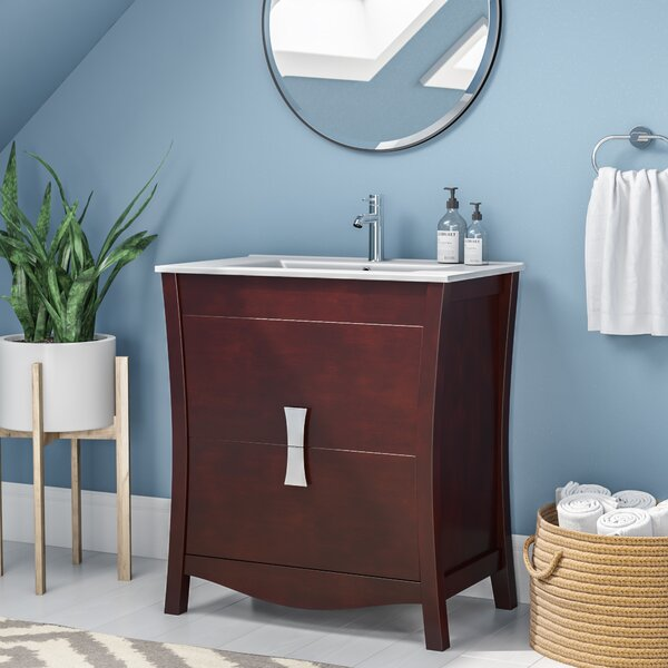 Cataldo Modern Floor Mount 30 Single Bathroom Vanity Set by Royal Purple Bath Kitchen