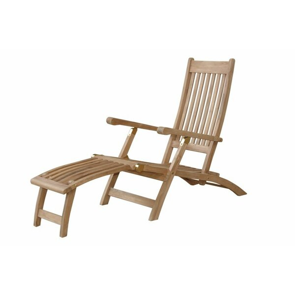 Tropicana Reclining Teak Chaise Lounge by Anderson Teak Anderson Teak