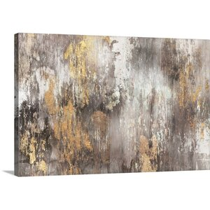 PI Galerie Ikat Print Canvas in Gold by Great Big Canvas