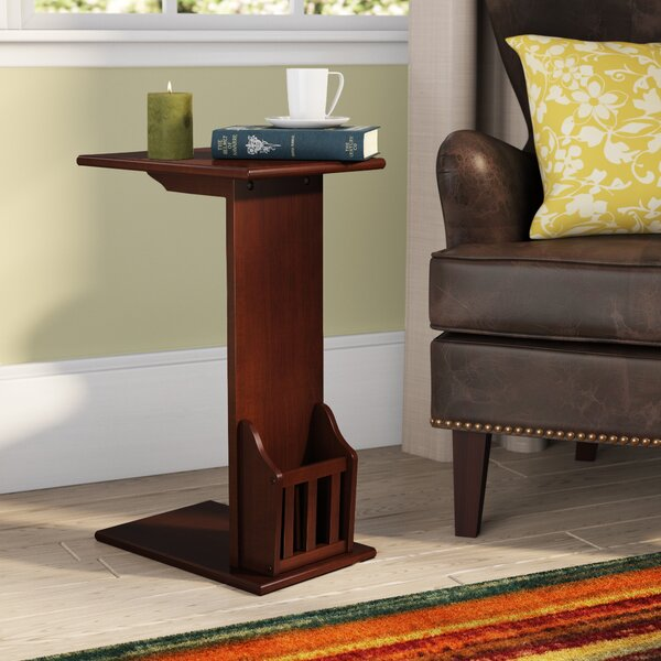 Home & Outdoor Ordaz Solid Wood C Table End Table