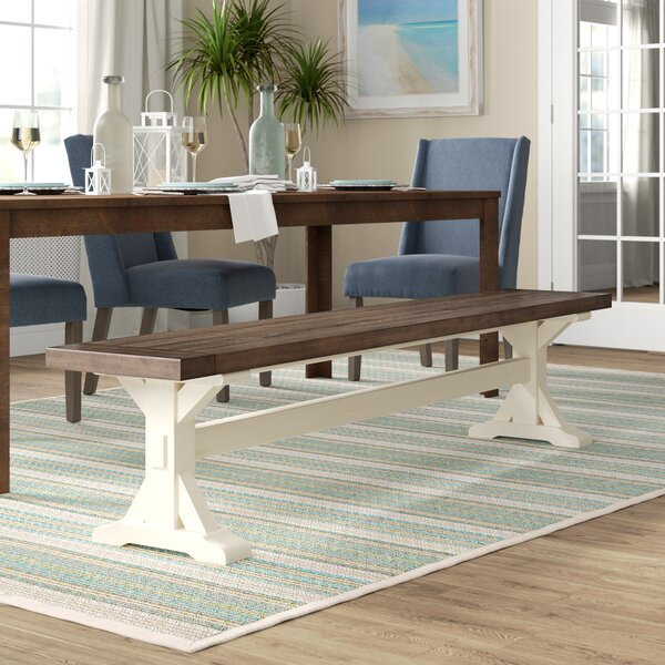 Bulah Wood Bench By Rosecliff Heights