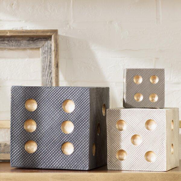 Aloisia 3 Piece Decorative Dice Set by Trent Austin Design