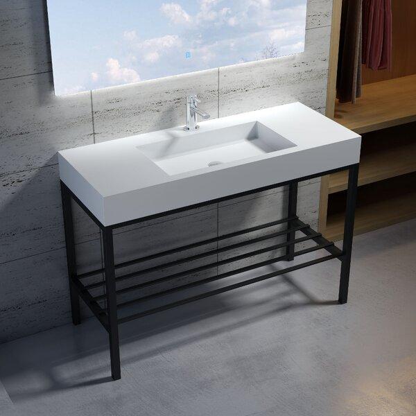 Wolkeseiben Stone 47 Console Bathroom Sink by InFurniture
