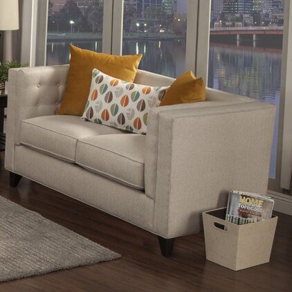 Pesce Contemporary Flared Arm Loveseat by Brayden Studio