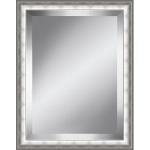 Latitude Run Brushed Beveled Plate Accent Mirror