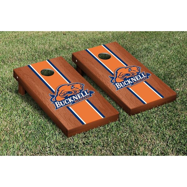 NCAA Rosewood Stained Wooden Cornhole Game Set by Victory Tailgate
