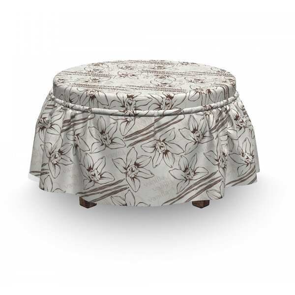 Pods And Flowers With Text Ottoman Slipcover (Set Of 2) By East Urban Home