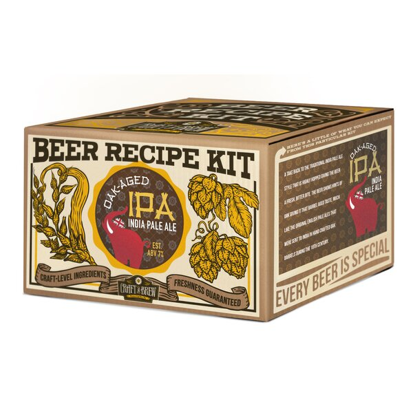 Oak Aged IPA Beer Recipe Kit by Craft A Brew