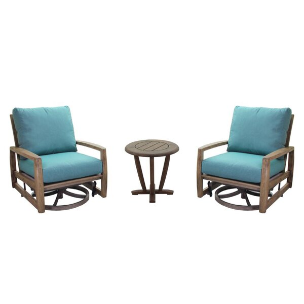Avalon Courtyard Casual Teak Sunbrella Seating Group with Cushions