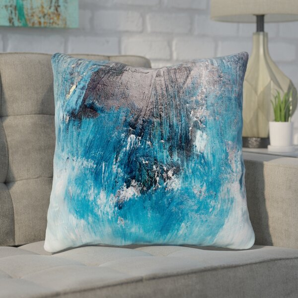Paz Ocean Oil Painting Throw Pillow by Ivy Bronx