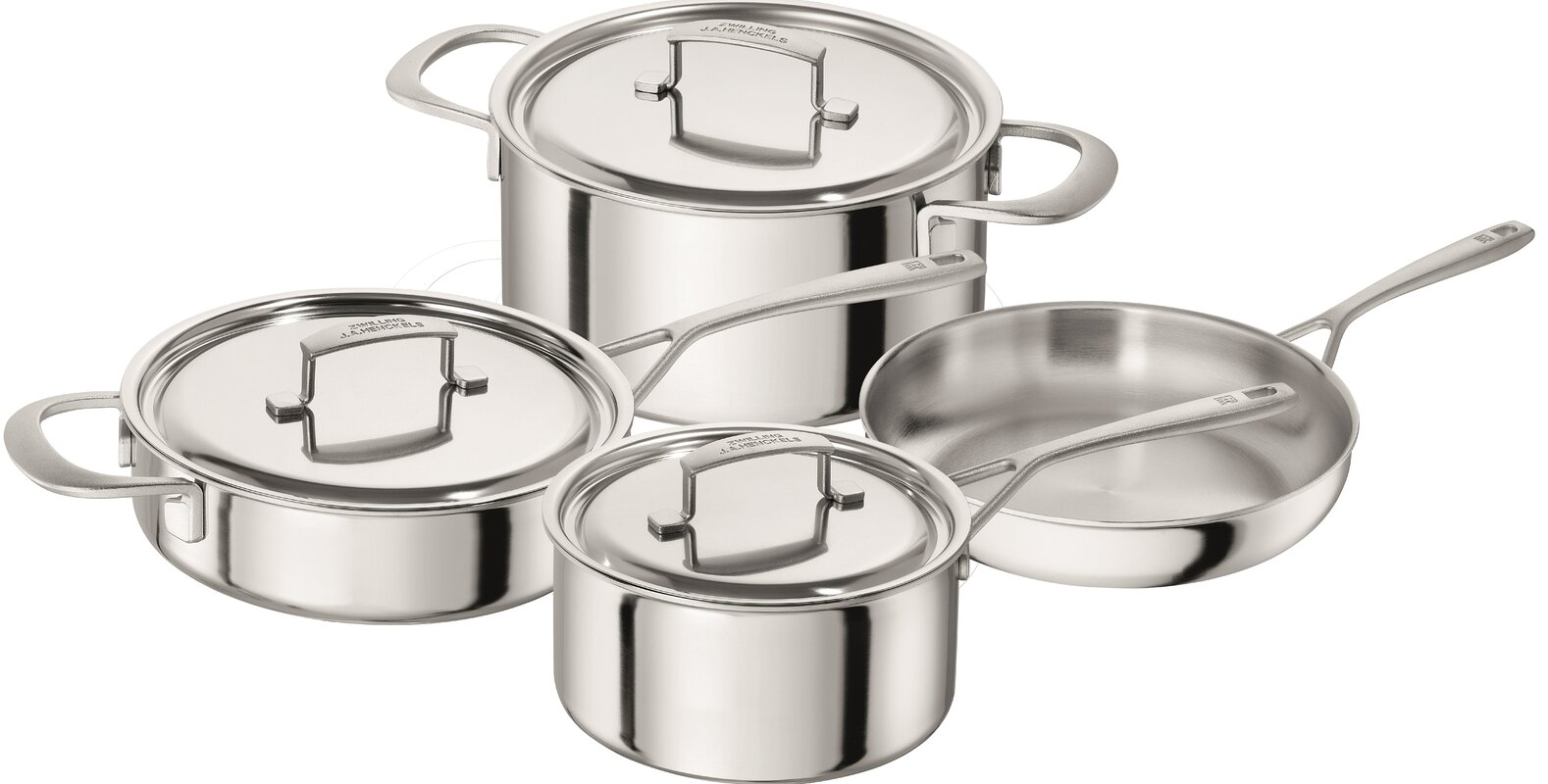 Zwilling JA Henckels Sensation 5-ply 7-pc Stainless Steel Cookware ...