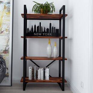 Argueta New York Modern Rustic Iron Standard Bookcase Foundry Select