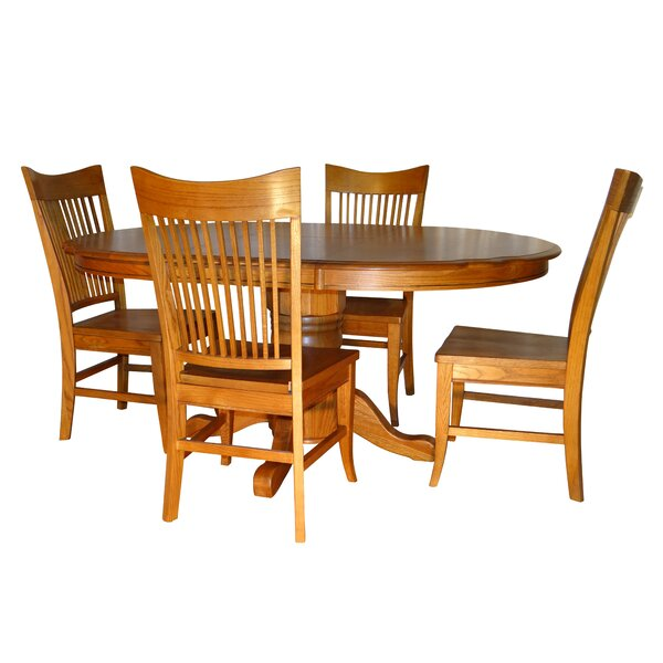 Nesbitt Classic Butterfly 5 Piece Extendable Solid Wood Dining Set by Canora Grey