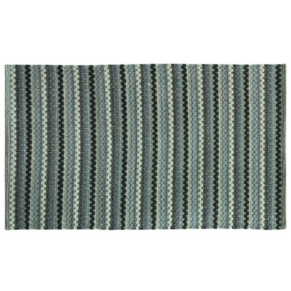 Brenden Hand-Woven Gray Area Rug by Bacova Guild