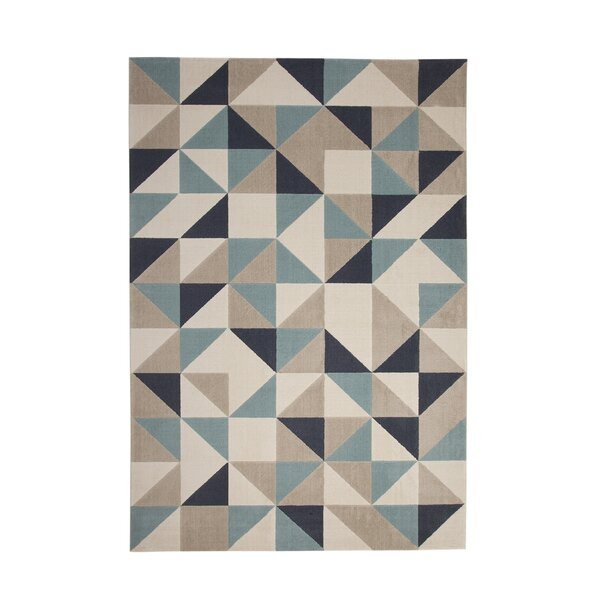 Barcroft Teal/Gray Area Rug by Wade Logan