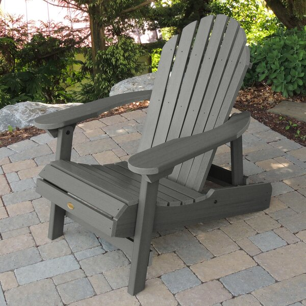 Amiya Plastic Folding Adirondack Chair by Breakwater Bay