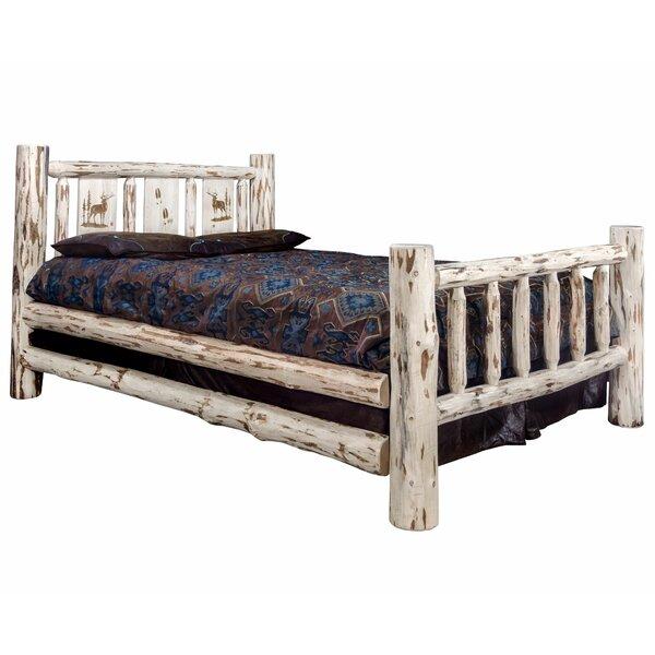 Antigo Laser Engraved Elk Standard Bed by Millwood Pines