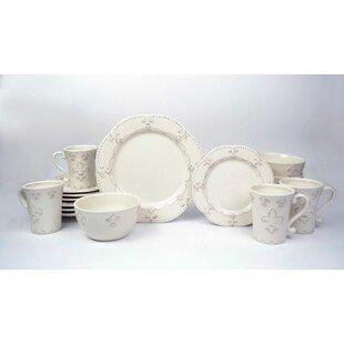 Adi 16 Piece Dinnerware Set Service for 4  sc 1 st  Wayfair & Cottage \u0026 Country Dinnerware Sets You\u0027ll Love