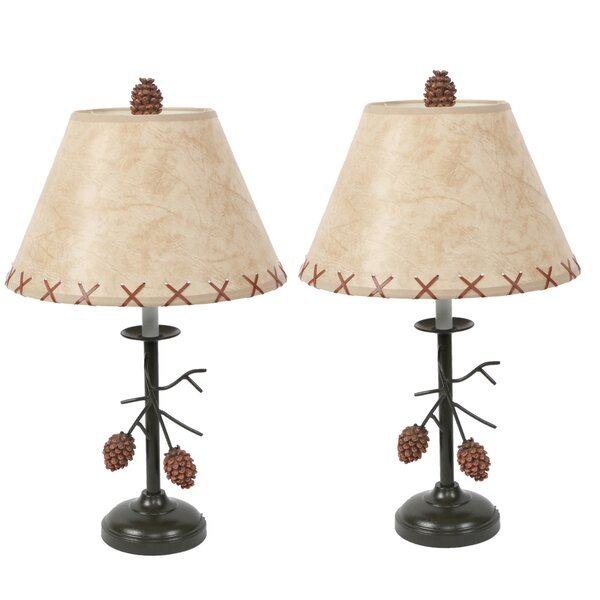 Pine Cone Branch 20 Table Lamp (Set of 2) by DEI