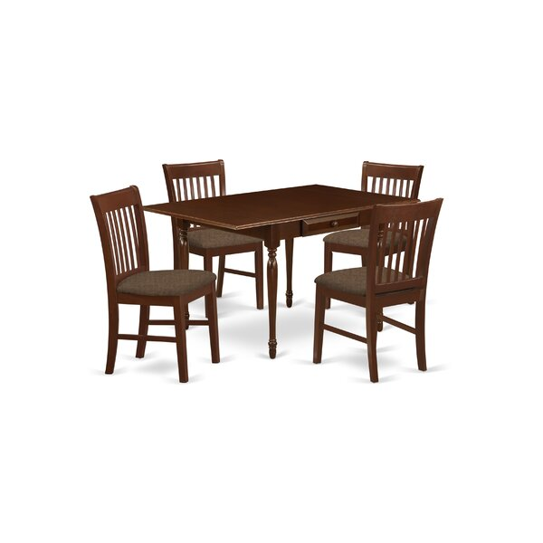 Brimine Drop Leaf Solid Wood Dining Set by Charlton Home Charlton Home