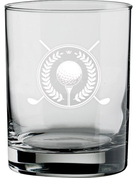 Keeter Golf Double Old-Fashioned 14 oz. Crystal Cocktail Glass (Set of 4) by Charlton Home