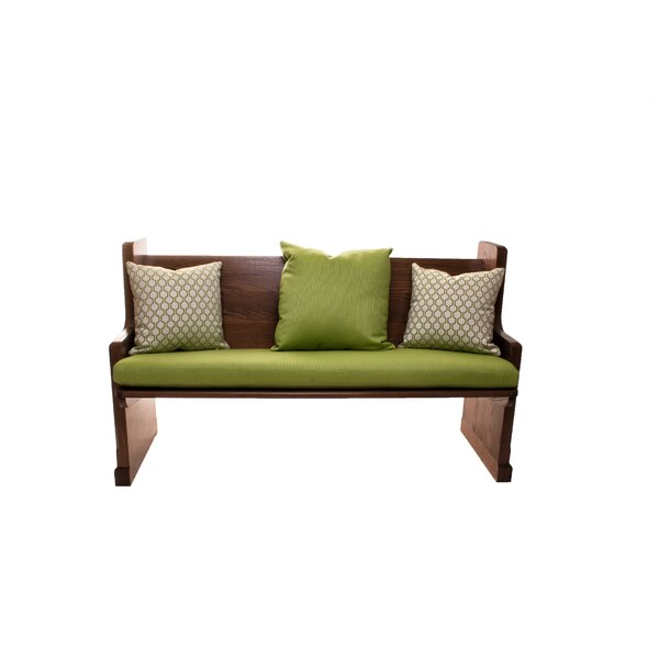 Grass Indoor/Outdoor Sunbrella Bench Cushion by Rosecliff Heights