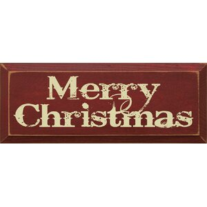 Merry Christmas Textual Art Plaque