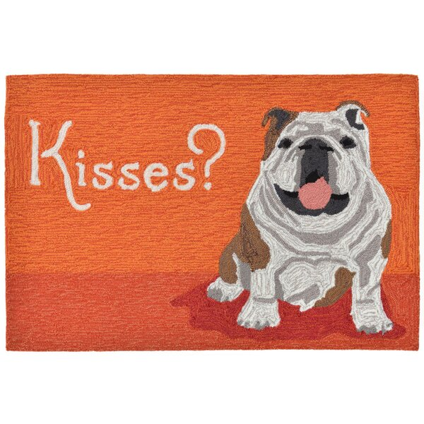 Seavey Hand-Tufted Orange Indoor/Outdoor Area Rug by Wrought Studio