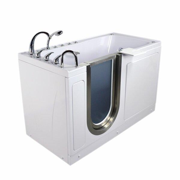 Ultimate 60 x 30 x 38 Sliding Door Walk-In Bathtub by Ella Walk In Baths