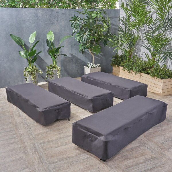 Water Resistant Patio Chaise Lounge Cover (Set of 4) by Symple Stuff
