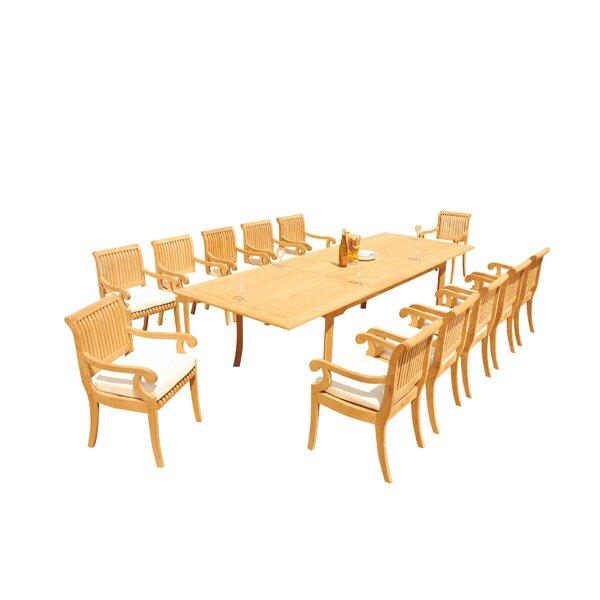 Massenburg 13 Piece Teak Dining Set by Rosecliff Heights