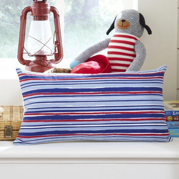 Beach Stripe Lumbar Pillow Cover by Birch Lane Kids™
