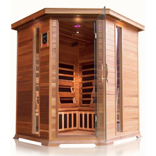 Bristol Bay Luxury 4 Person FAR Infrared Sauna by SunRay Saunas