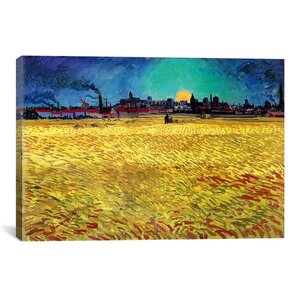 'Sommerabend' by Vincent Van Gogh Painting Print on Wrapped Canvas by iCanvas